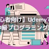 【脱初心者向け】Udemyで評判の初・中級プログラミング講座【知識獲得に最適!】
